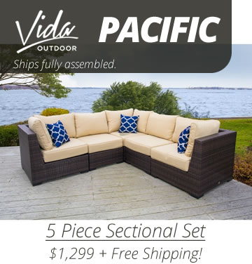 Vida Pacific Conversation Set - Ships in 1 Day!