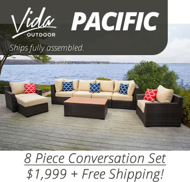 Vida Pacific 8 Piece Set - Ships in 1 Day!