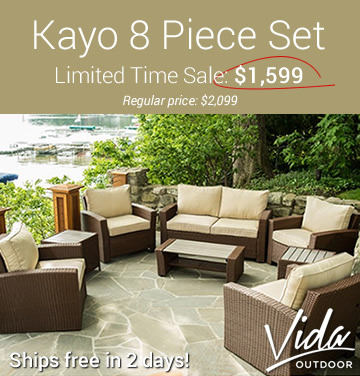 Vida Kayo 8 Piece Set - Ships in 1 Day!