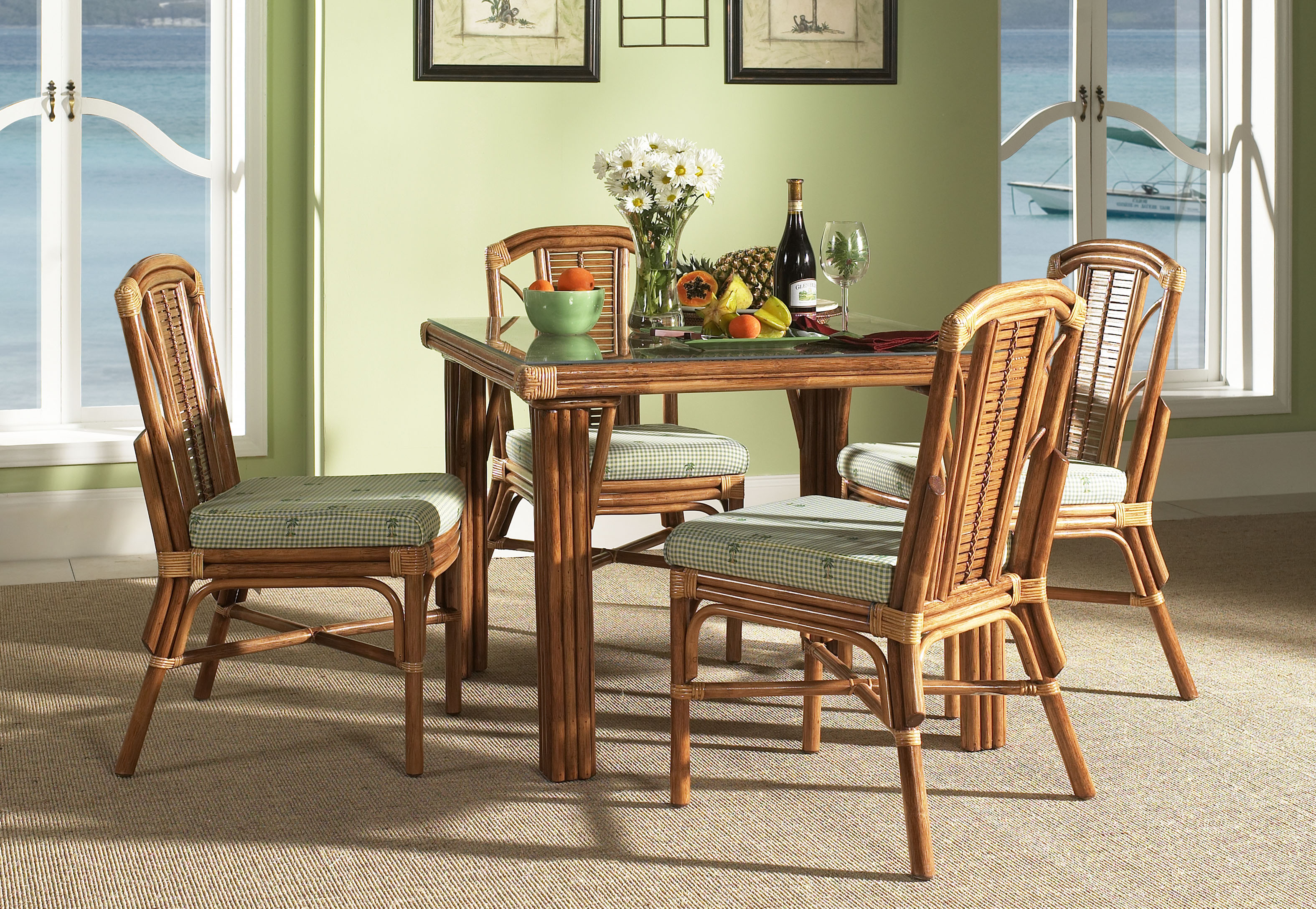 Indoor Wicker Dining Room Furniture - WickerCentral.com