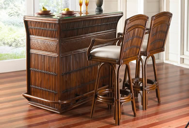indoor wicker dining room furniture - wickercentral