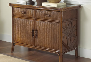 Wicker Buffets & Hutches