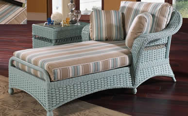 Classic Rattan Chaise Lounges & Benches