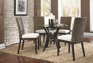 Indoor Wicker Dining Room Furniture WickerCentral Com Stunning