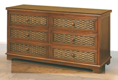 Wicker Dressers & Chests