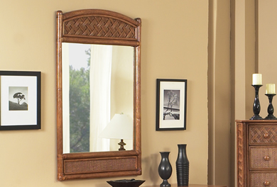 Wicker Mirrors