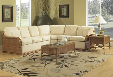 Classic Rattan Sectionals & Sectional Pieces