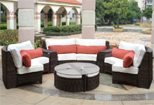 South Sea Rattan Sectional Sets
