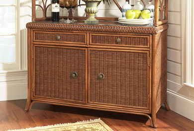 Wicker Cabinets & Storage