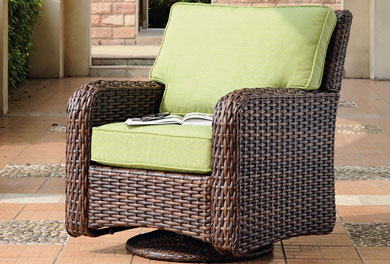 Wicker Swivel Chairs