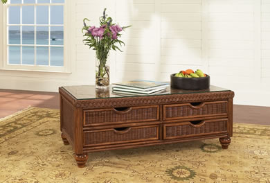 Classic Rattan Coffee Tables, End Tables, and Console Tables