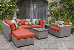 TK Classics Wicker Sectional Sets