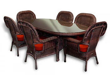Traditional Wicker Dining Sets