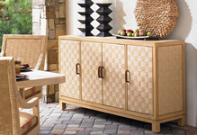 Wicker Buffet & Console Tables