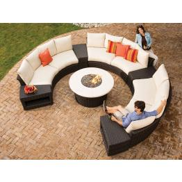 curved outdoor wicker sectional sets. Black Bedroom Furniture Sets. Home Design Ideas