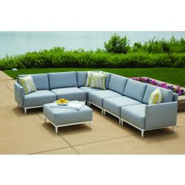 Lloyd Flanders South Beach 7 Piece Sling Sectional Set