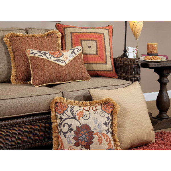 South Sea Rattan All Weather Dimone 5 Piece Throw Pillow Set