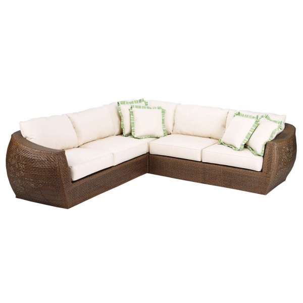 Sunset West Huntington 3 Piece Wicker Sectional - Replacement Cushion