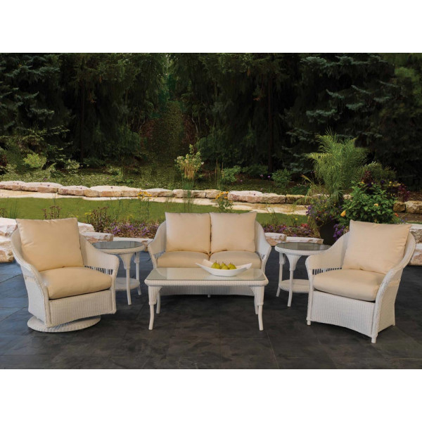 Lloyd Flanders Freeport 6 Piece Wicker Conversation Set