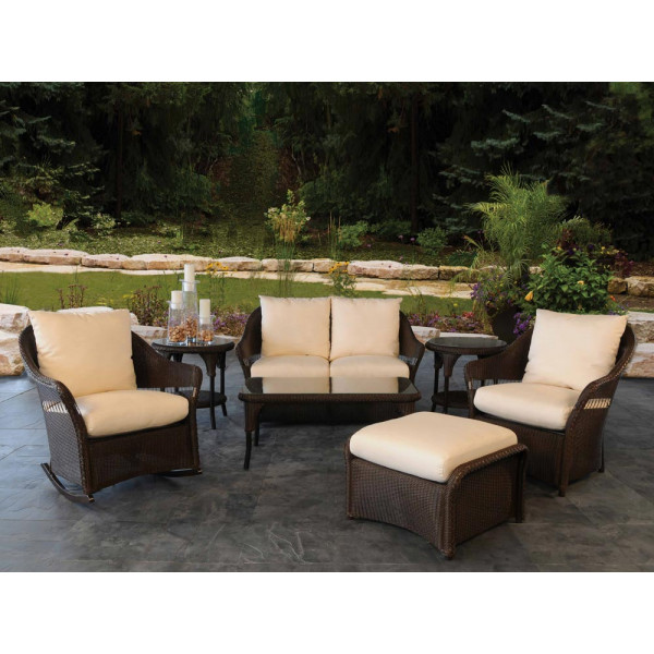 Lloyd Flanders Freeport 7 Piece Wicker Conversation Set