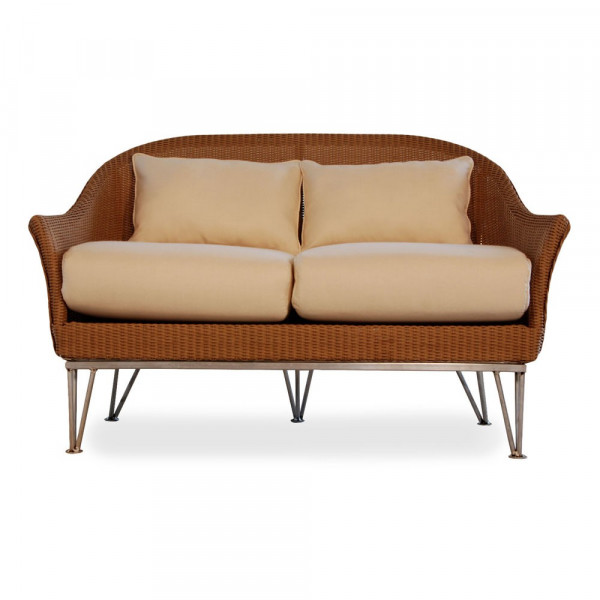 Lloyd Flanders Mod Wicker Loveseat with Square Back - Replacement Cushion