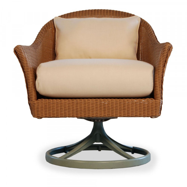 Lloyd Flanders Mod Wicker Swivel Rocker with Square Back - Replacement Cushion