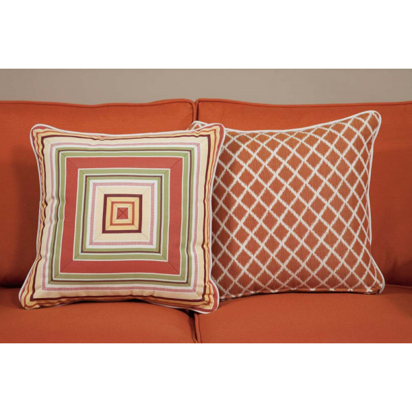 South Sea Rattan All Weather Apricot Medium Throw Pillow