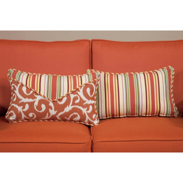 South Sea Rattan All Weather Apricot Small Throw Pillow
