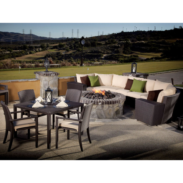 Sunset West Solana 11 Piece Wicker Set