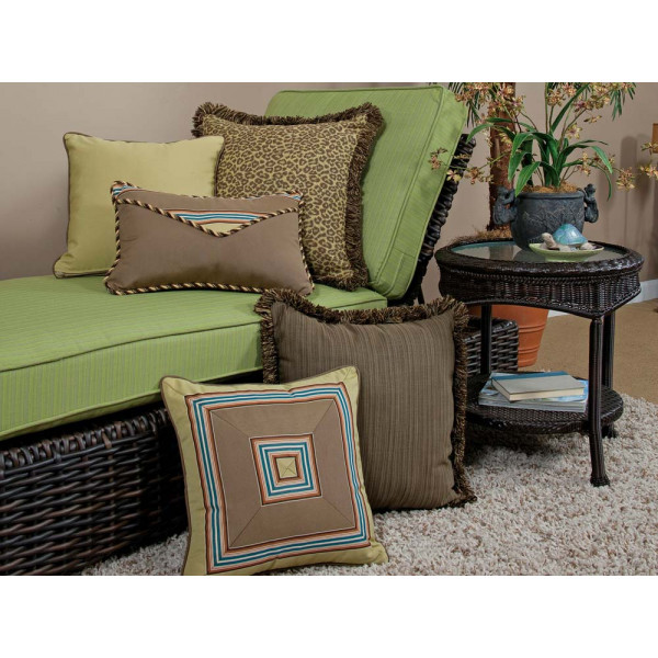 South Sea Rattan All Weather Wild Thing 5 Piece Throw Pillow Set