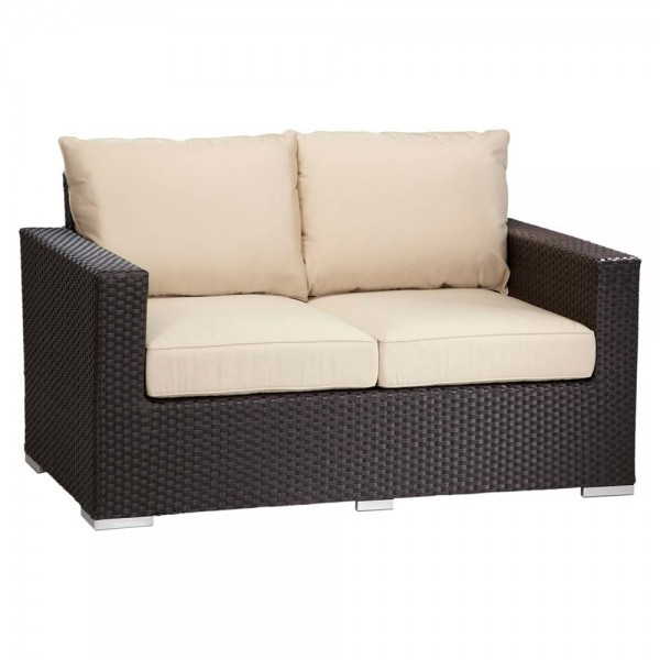 Sunset West Solana Wicker Loveseat - Replacement Cushions