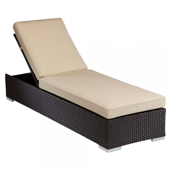 Sunset West Solana Adjustable Wicker Chaise Lounge - Replacement Cushions