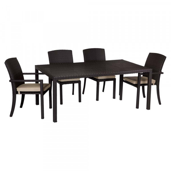 Sunset West Solana 5 Piece Wicker Dining Set