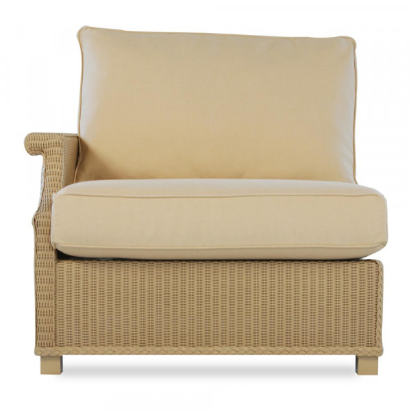 Lloyd Flanders Hamptons Right Arm Facing Wicker Lounge Chair