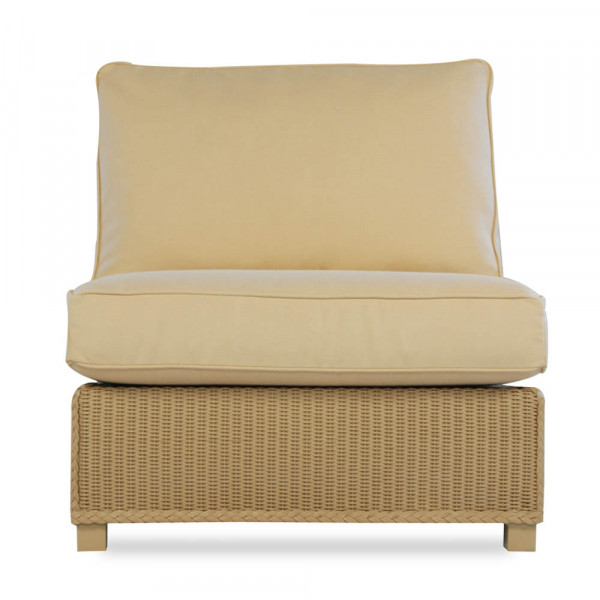 Lloyd Flanders Hamptons Armless Wicker Lounge Chair - Replacement Cushion