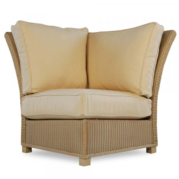 Lloyd Flanders Hamptons Wicker Corner Chair