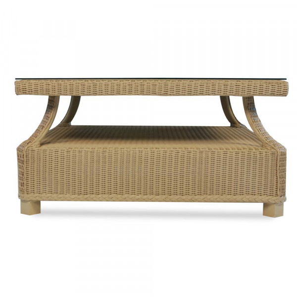 Lloyd Flanders Hamptons Wicker Chat Table