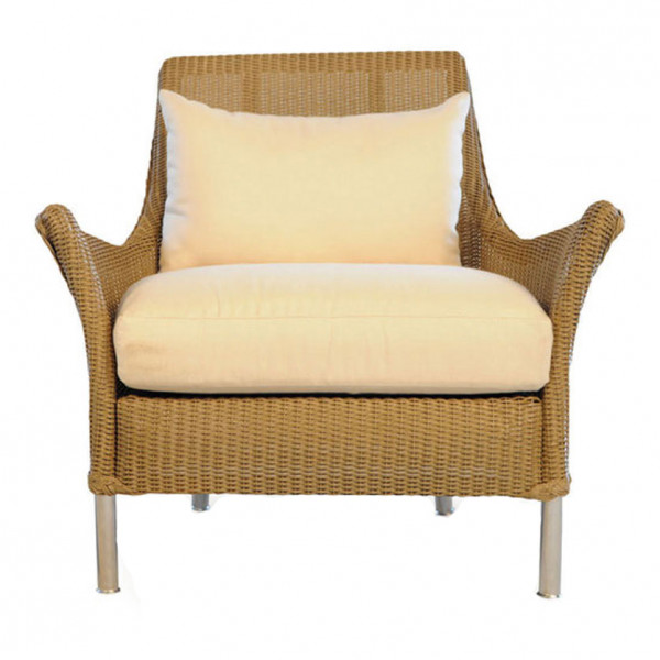 Lloyd Flanders Fusion Wicker Lounge Chair with Square Back - Replacement Cushion