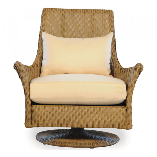 Lloyd Flanders Fusion Highback Wicker Swivel Rocker with Square Back - Replacement Cushion