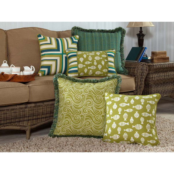 South Sea Rattan All Weather Aegean 5 Piece Throw Pillow Set