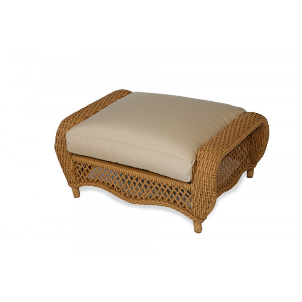 Lloyd Flanders Tropics Wicker Ottoman - Replacement Cushion