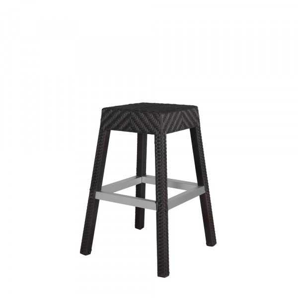 Source Outdoor Miami Wicker Bar Stool