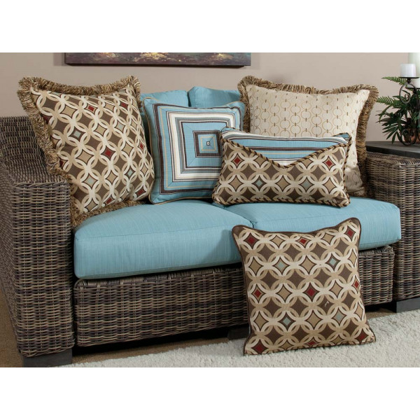 South Sea Rattan All Weather Tango 5 Piece Throw Pillow Set