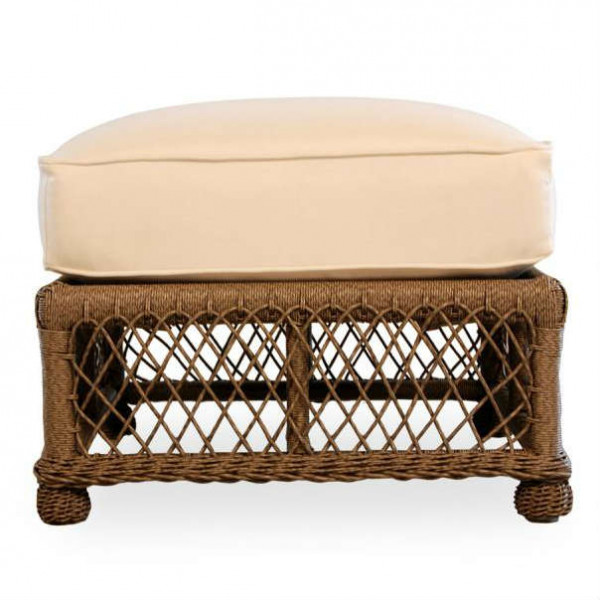Lloyd Flanders Vineyard Wicker Ottoman - Replacement Cushion