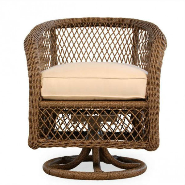 Lloyd Flanders Vineyard Wicker Swivel Dining Chair - Replacement Cushion