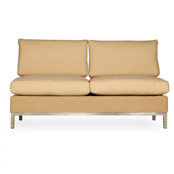 Lloyd Flanders Elements Armless Wicker Loveseat