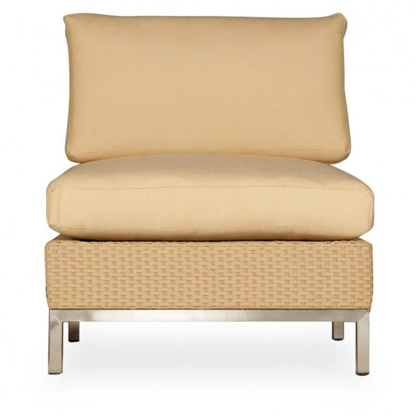 Lloyd Flanders Elements Armless Wicker Lounge Chair