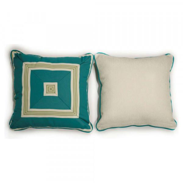 South Sea Rattan All Weather Aquamarine Medium Throw Pillow