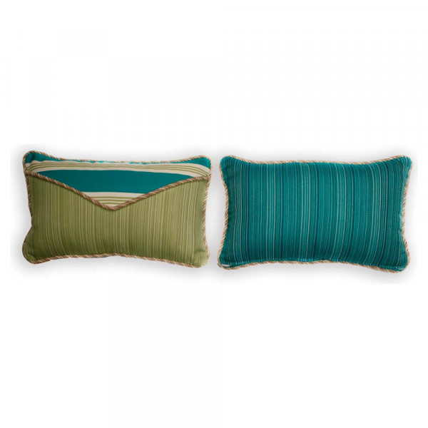 South Sea Rattan All Weather Aquamarine Small Throw Pillow