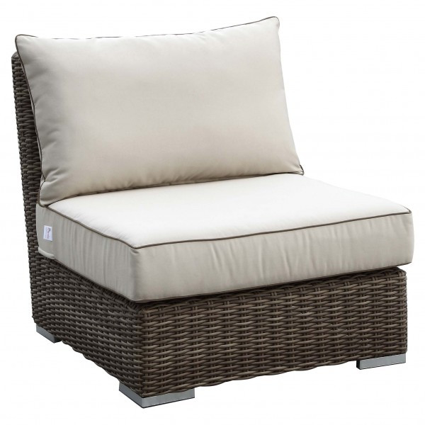 Sunset West Coronado Armless Wicker Lounge Chair - Replacement Cushion